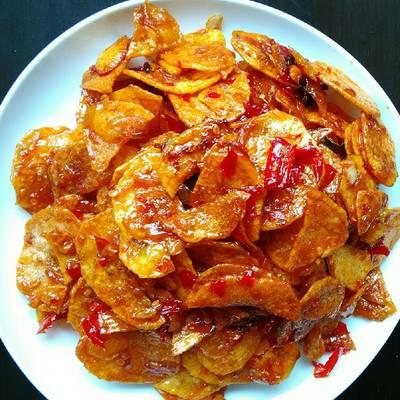 Resep Kering Kentang Pedas Manis Pr Cabelita Oleh Vivin Sugiana Lovis Cake Cookpad