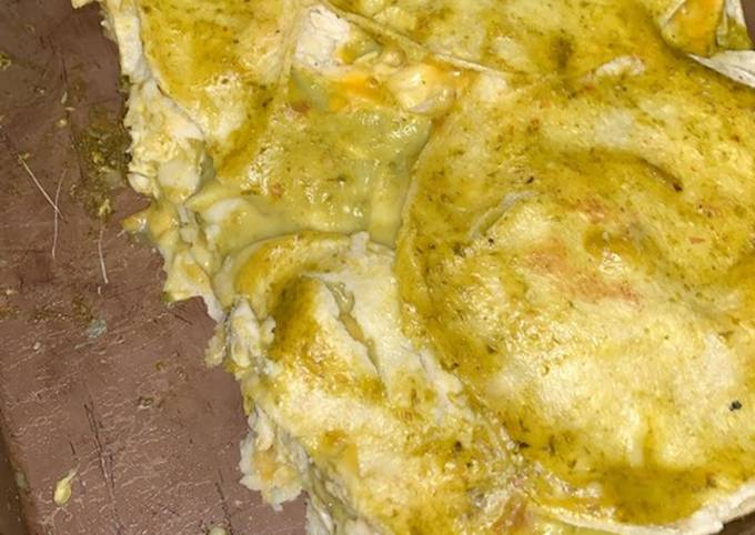 Recipe of Homemade Green Chicken Enchiladas