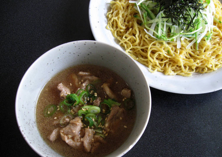 Steps to Prepare Ultimate Cold Ramen Noodles With Pork Dipping Sauce