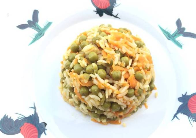 Vegan Pea And Carrot Fried Rice