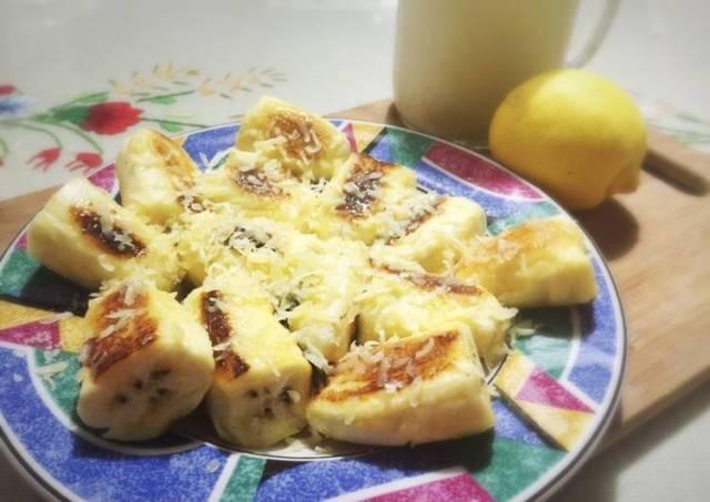 Pisang goreng mentega rendah kalori