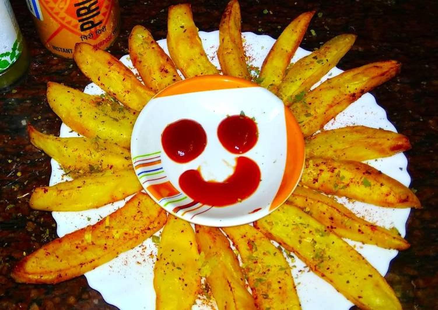 Peri Peri Garlic Potato Wedges Non fried