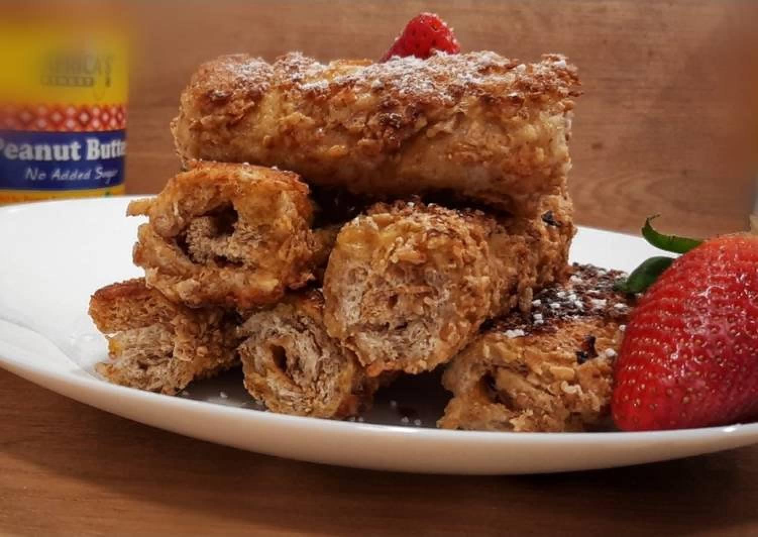 Peanut butter and jam bread rolls