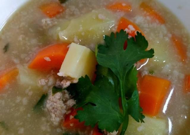 Sup Daging Sapi cincang