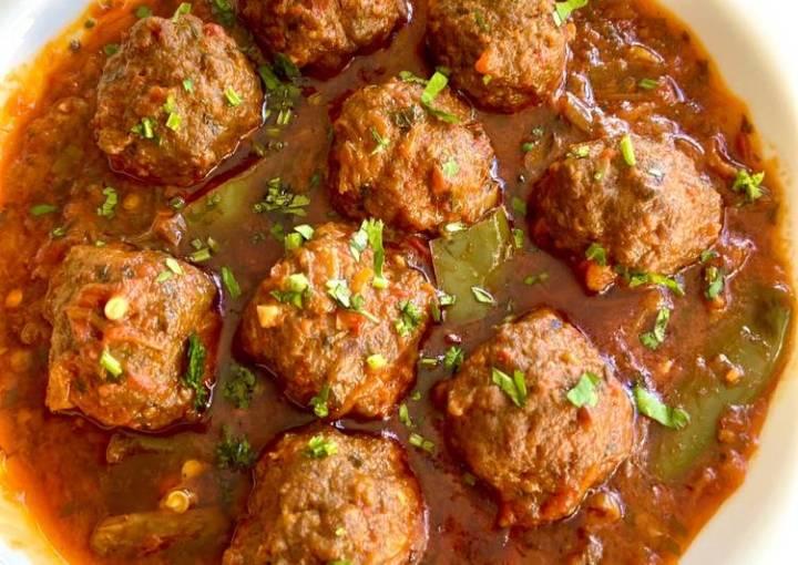 Chicken meatballs curry  #mycookbook