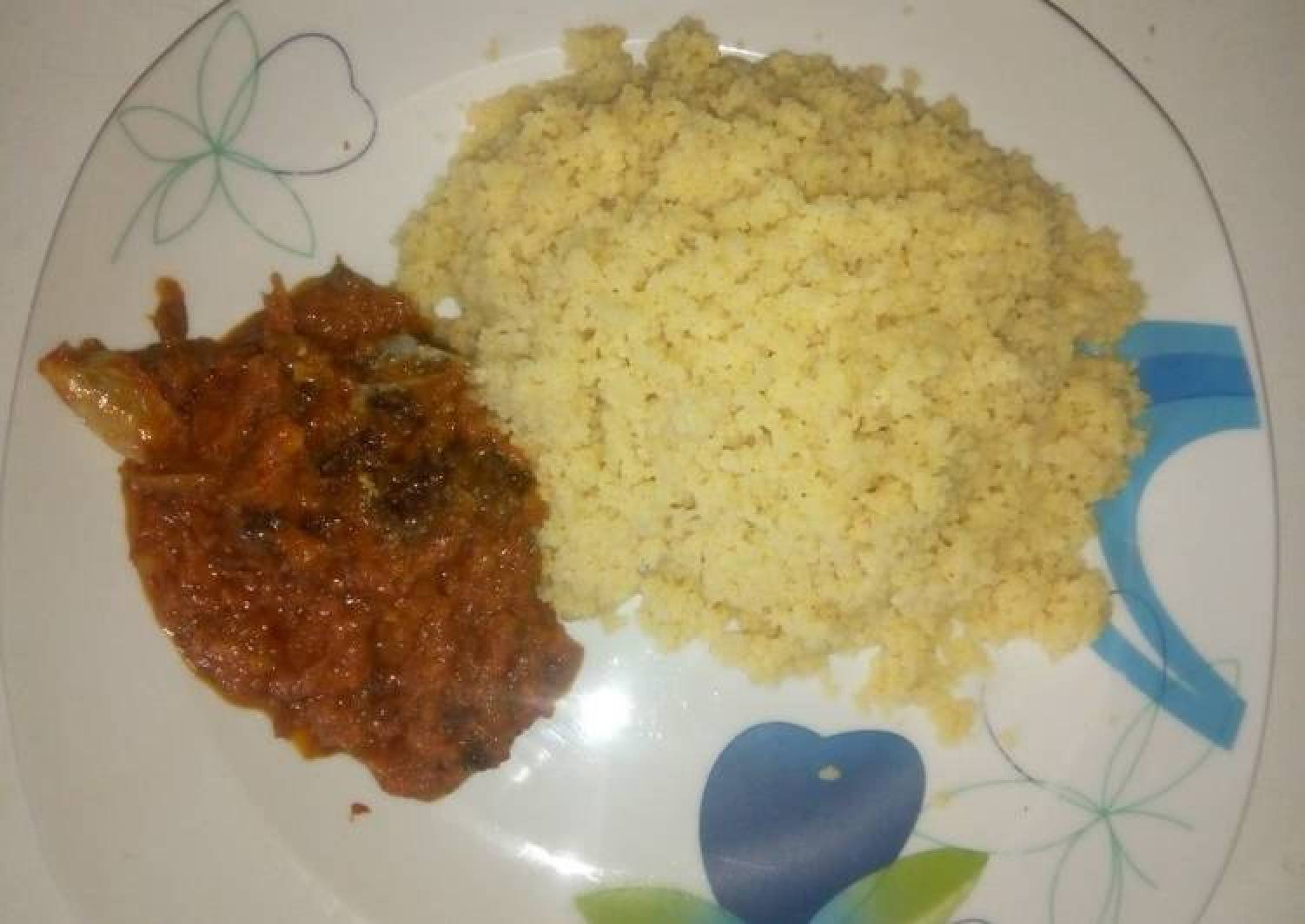 Couscous & Dried fish stew