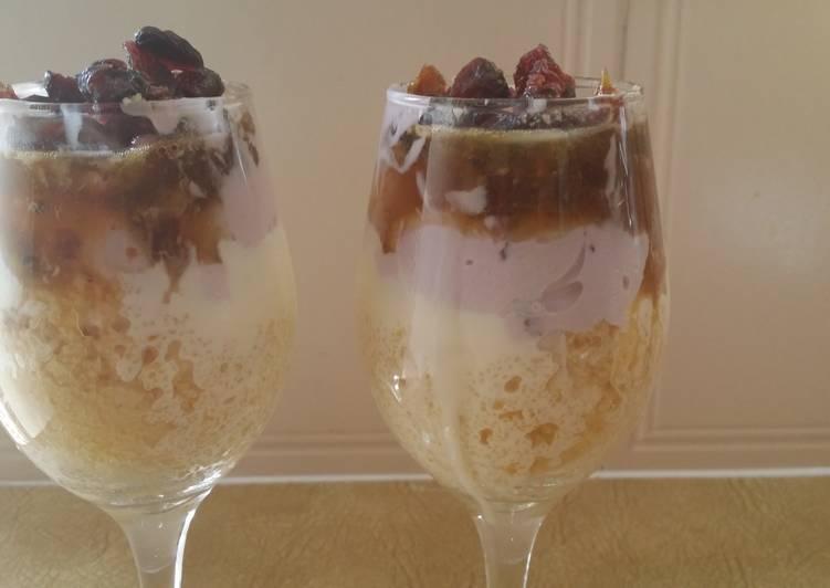 Breakfast Couscous,yoghurt and dates parfait