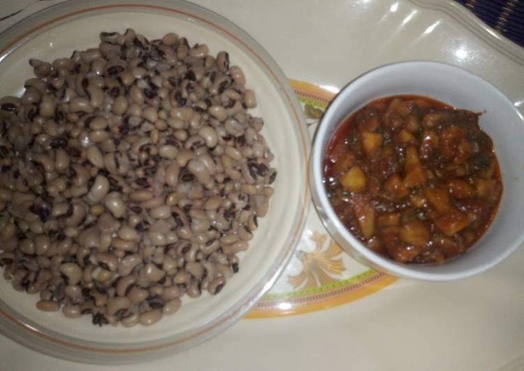 Beans & potato porridge soup