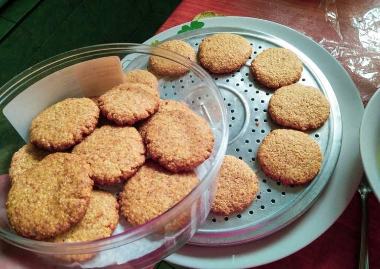 Cookies Enting-enting Oatmeal Teflon 4 bahan #nooven #nomixer