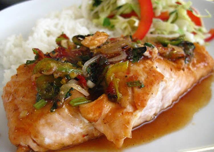 Easy Sweet & Spicy Thai-Inspired Maple Glazed Salmon