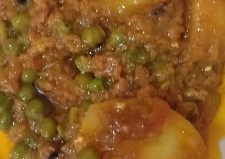 Recipe of Perfect Mutton mince patato mater