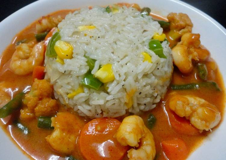 Shrimps in Thai Red Curry, Finding Healthy Fast Food