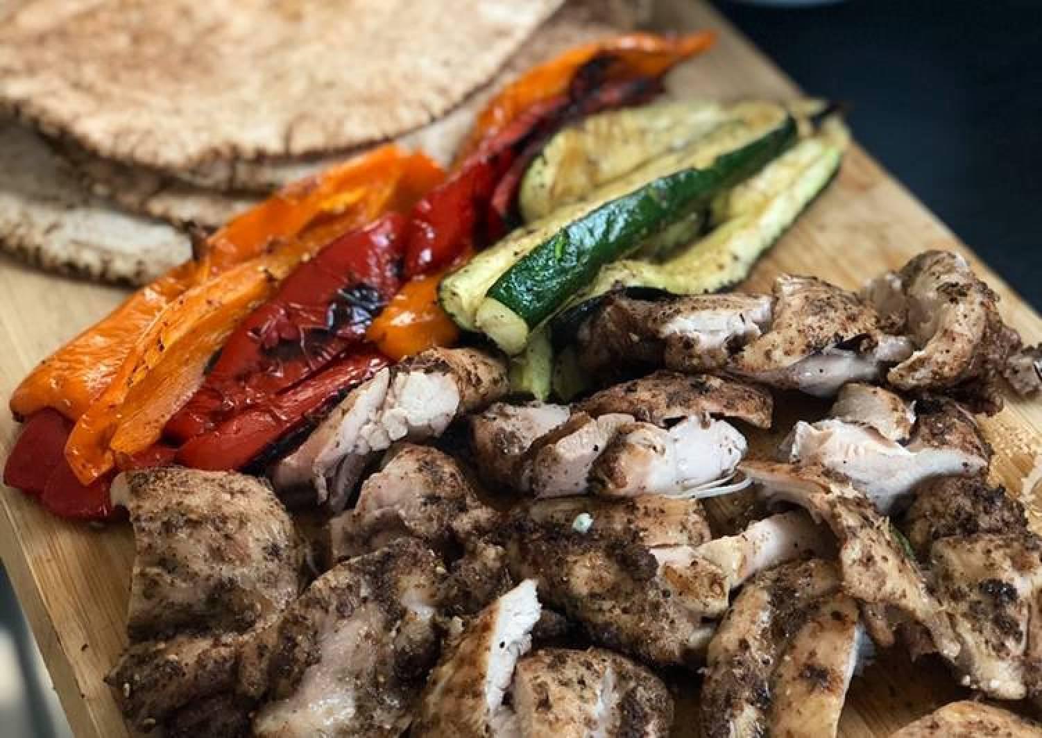 BBQ Za'atar chicken feast 🇱🇧