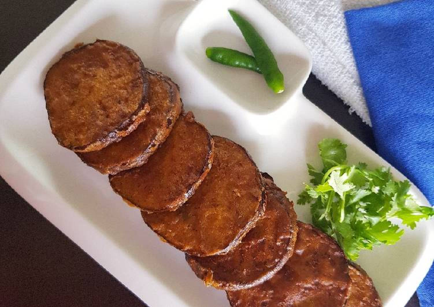 Eggplant fry/ Baigan fry/ Aubergine pan fry