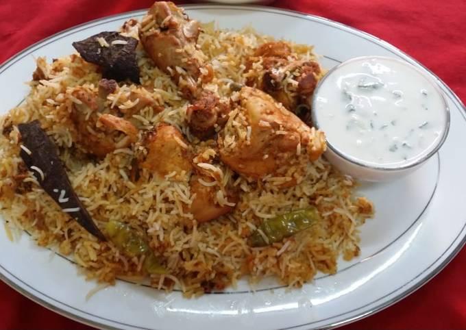 Recipe of Favorite Hyderabadi Chicken Dum Biryani