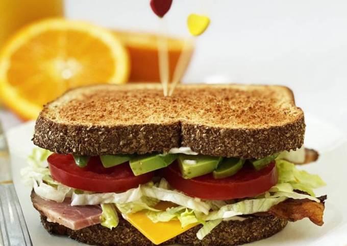 Bacon, Ham, Avocado, & Cheese Sandwich