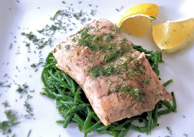 Oven steamed sea trout