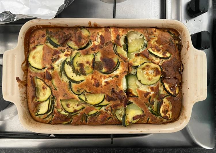 Steps to Prepare Any night of the week Courgette & Feta Clafoutis