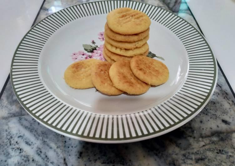 Eggless Pan Baked Cookies
