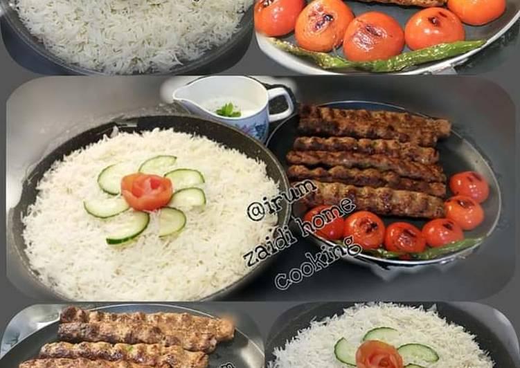 🍲🥘Turkish Food🥘🍲  Adna Kebab   &  Turkish Pilaf