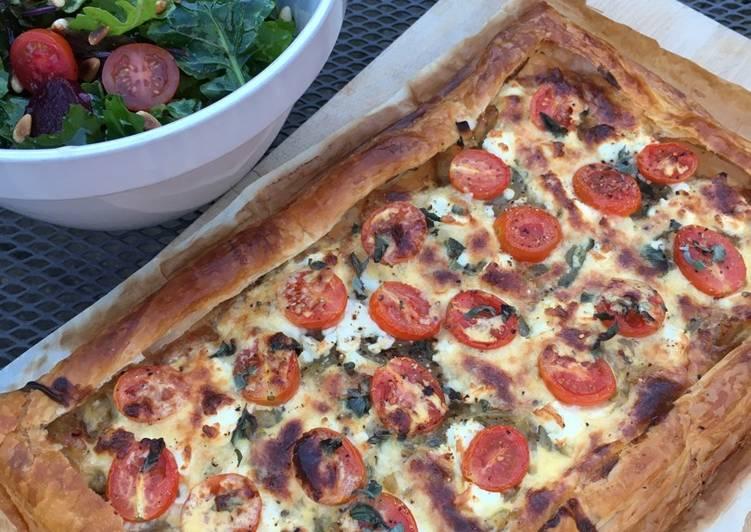 Recipe of Award-winning Onion, cheese and tomato tart