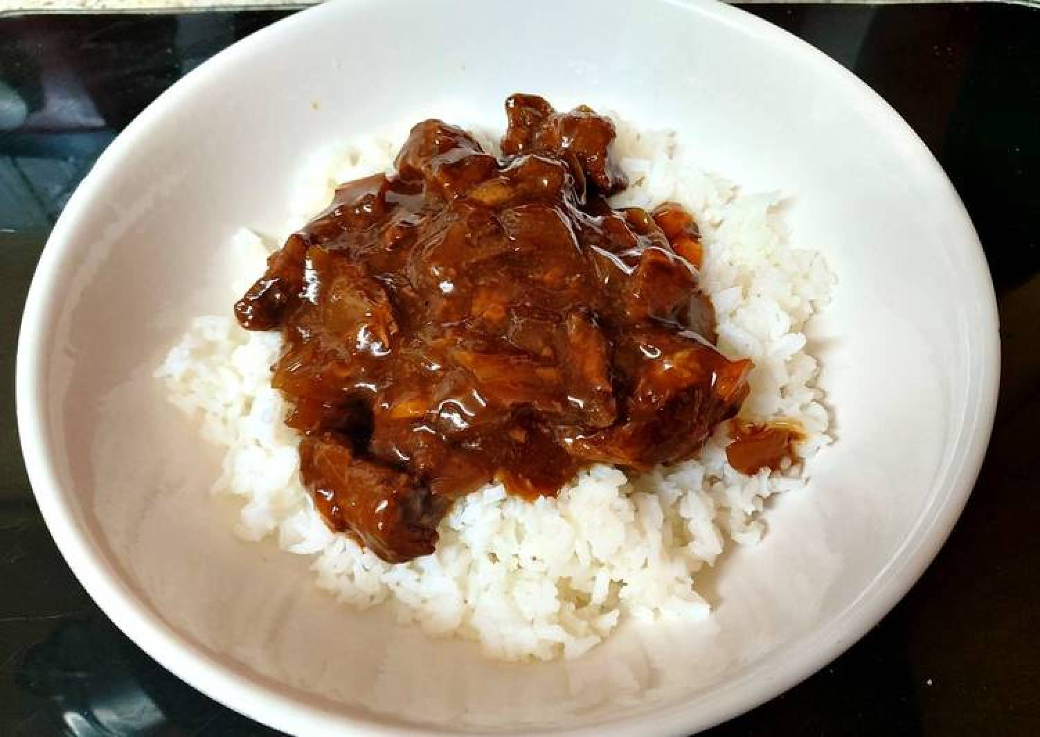 My Slow Cooked BBQ Beef Over Rice 🥰