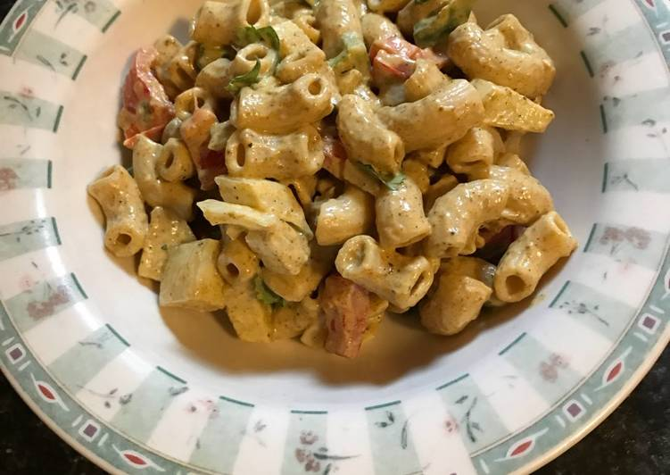 Parveen's Vegan Curry Pasta Salad