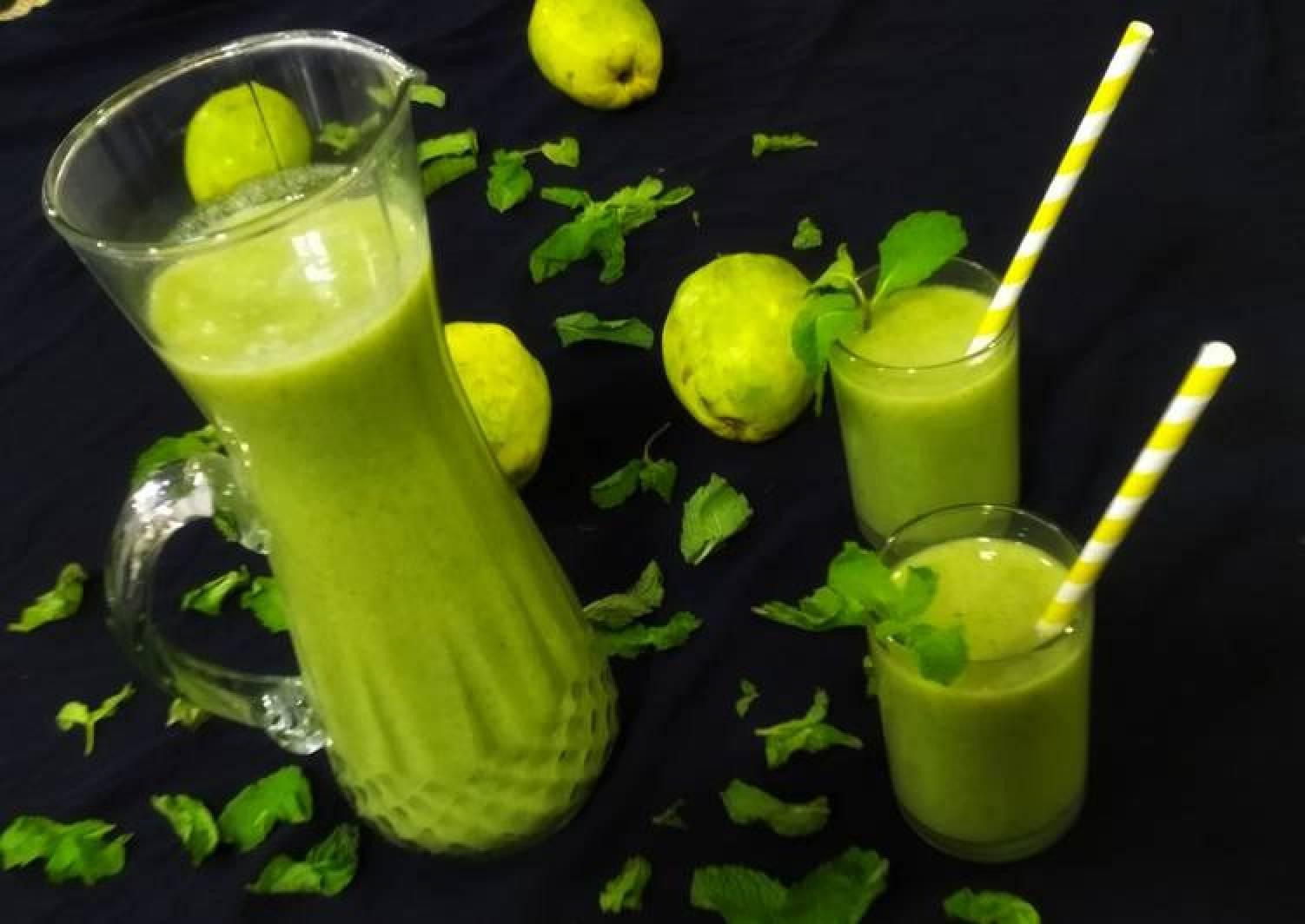 Guava mint juice