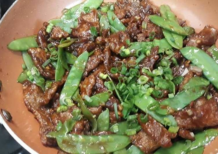 Crispy Beef with Snow Peas