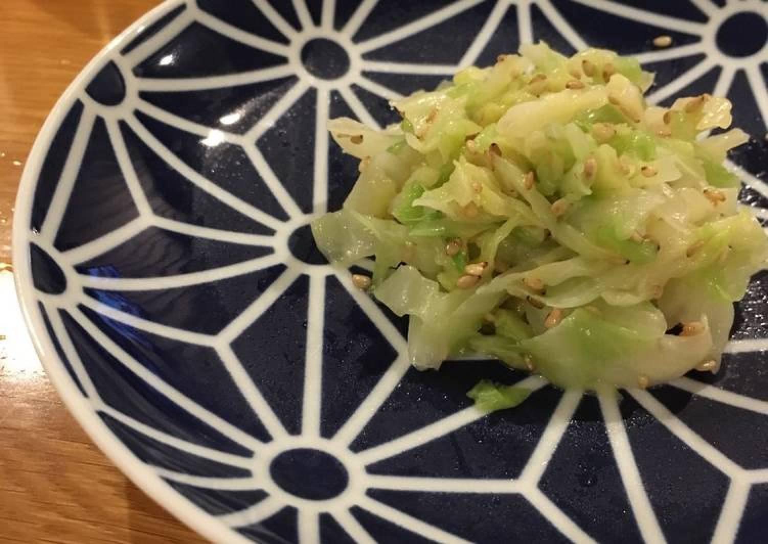 Korean cookery cabbage salad! (Namuru)