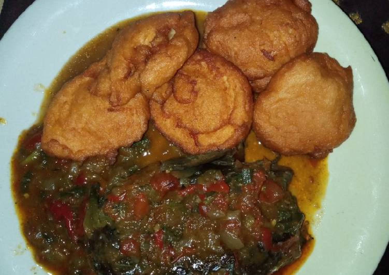 Akara and dried fish pepper soup