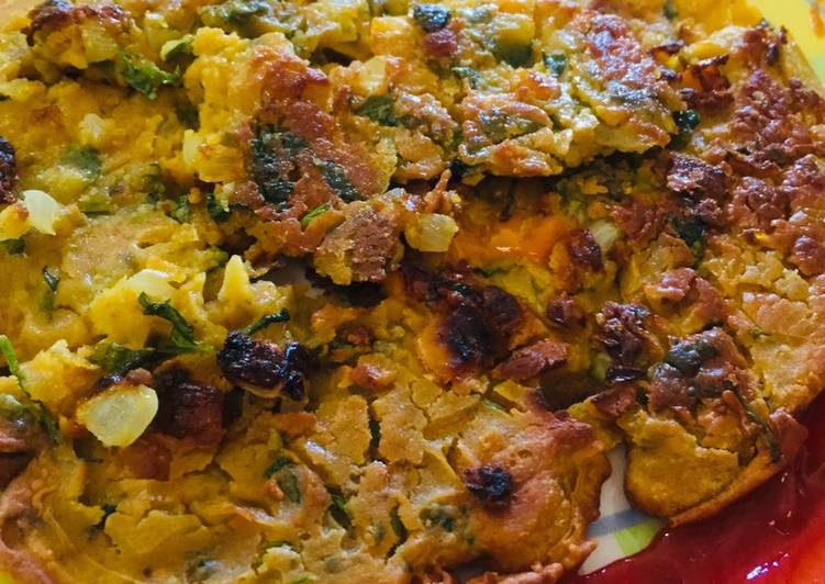 Mix veg gram flour pan cake(Besan chilla) Omelette without eggs