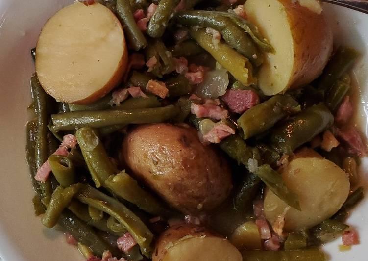 Kim's Green Beans, Ham and Potatoes