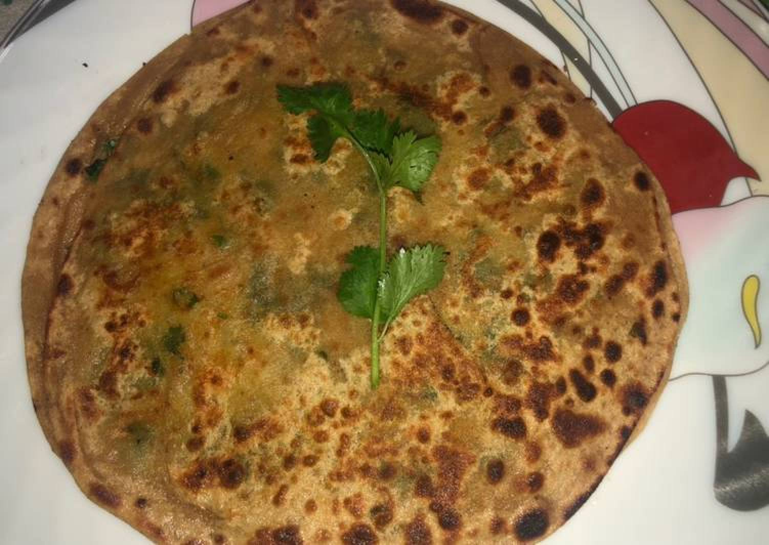 Breakfast recipe Peas Paratha