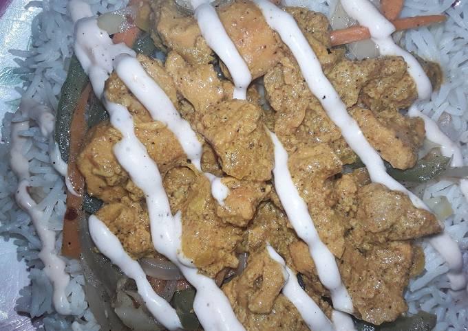 Recipe of Super Quick Homemade Chicken bbq rice