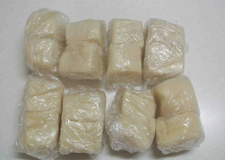 """Pâte pour """"Nerikiri Wagashi (des confiseries traditionnelles japonaises)"""""""