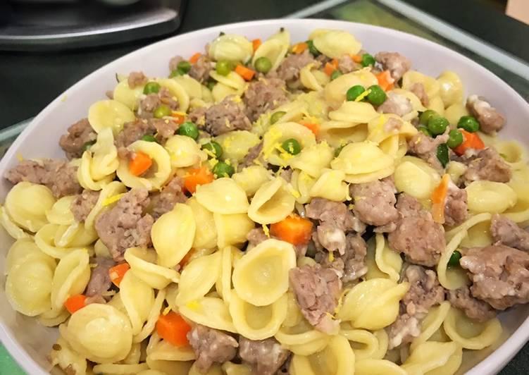 Italian Sausage with Orecchiette