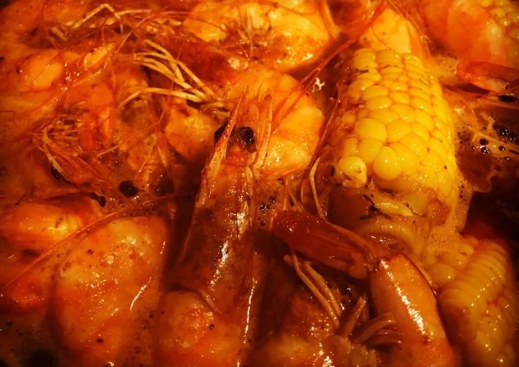 The Whole Shabang Shrimp (Boiling Crab Style) recipe main photo