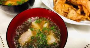 Wantan soup and Fried Wantan