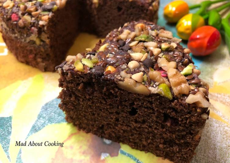 Vegan Beetroot Choco Nuts Cake – Pressure Cooker Cake