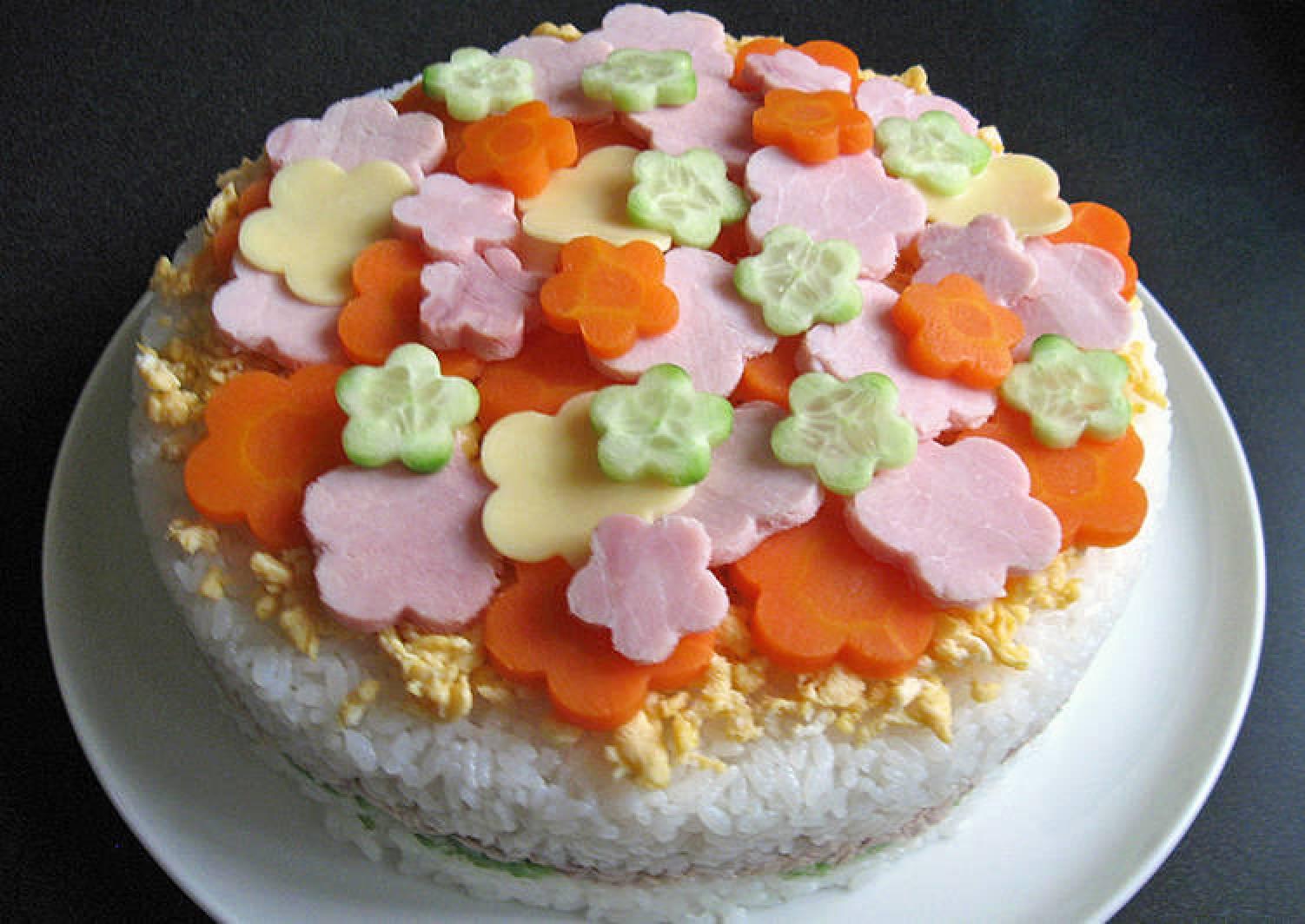 Decorated Sushi Cake