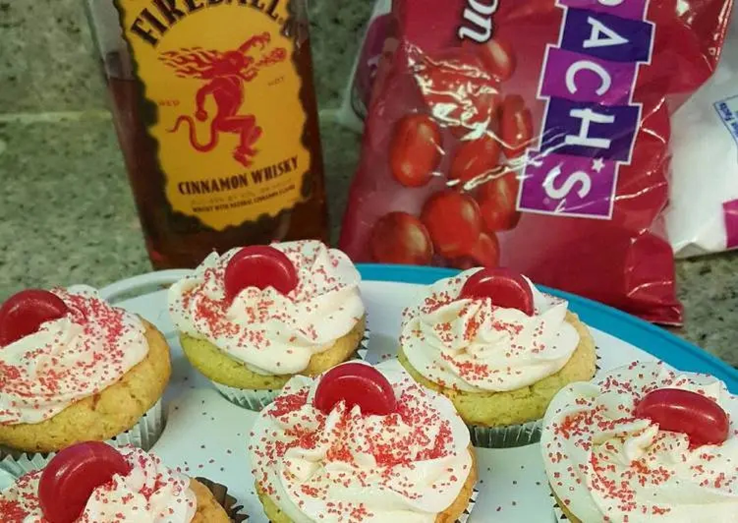 Fireball whiskey cupcakes
