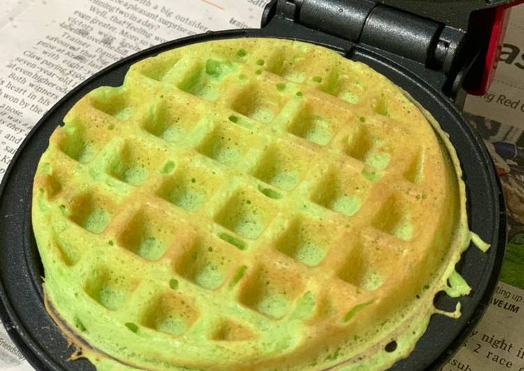 Easiest Way to Prepare Perfect Pandan Waffle