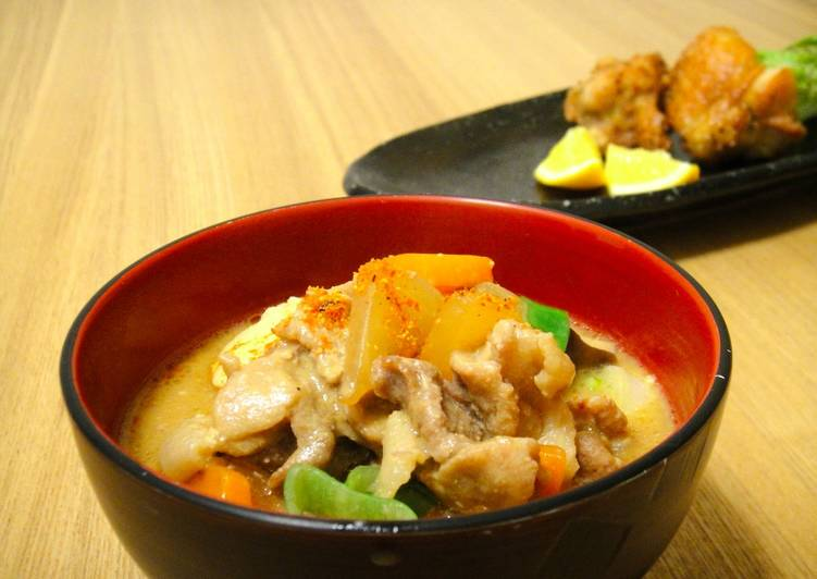 Step-by-Step Guide to Make Favorite Tonjiru : A miso based pork soup filled with vegetables