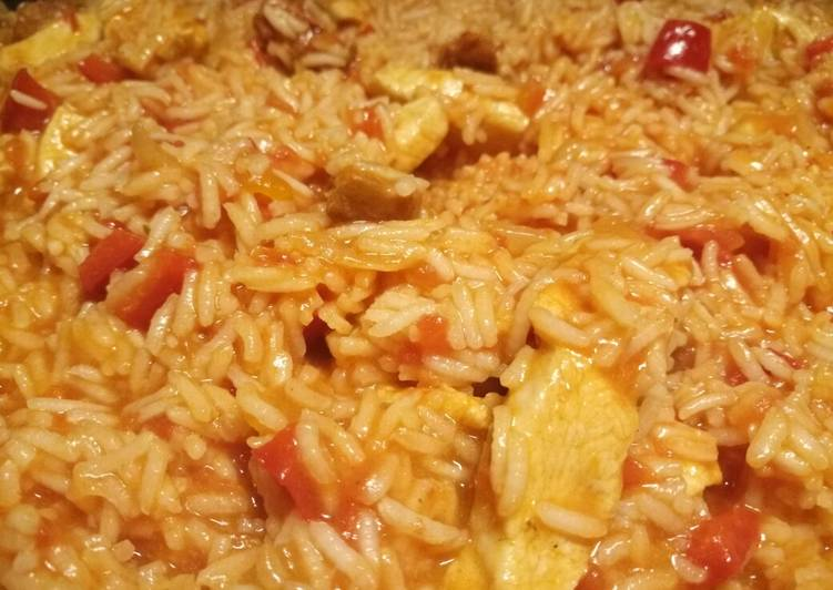 Steps to Make Super Quick Homemade Spicy rice one pan quick weeknight meal