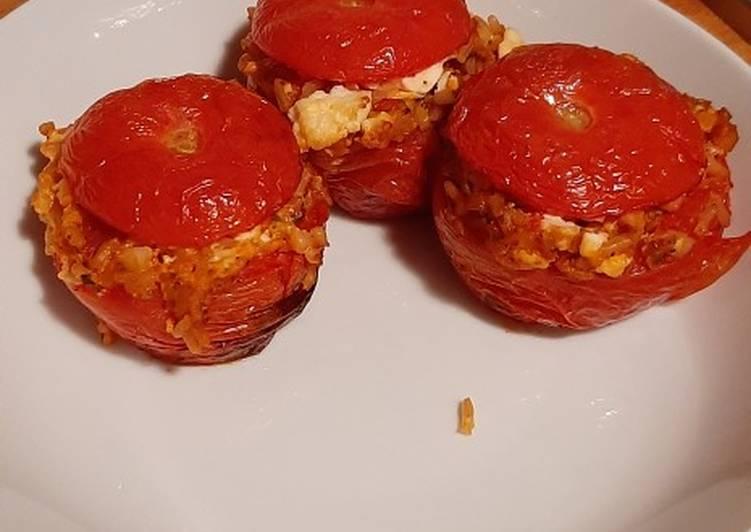 Greek Stuffed Tomatoes
