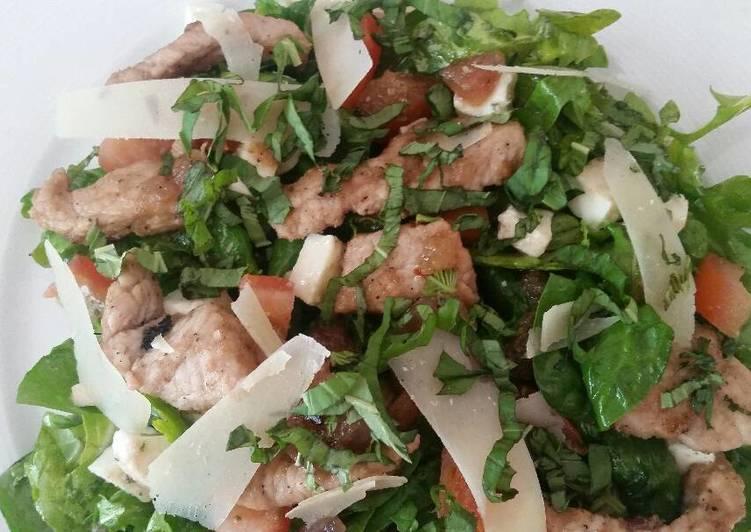 Recipe of Super Quick Homemade Rosemary Pork & Sage Caprese Salad