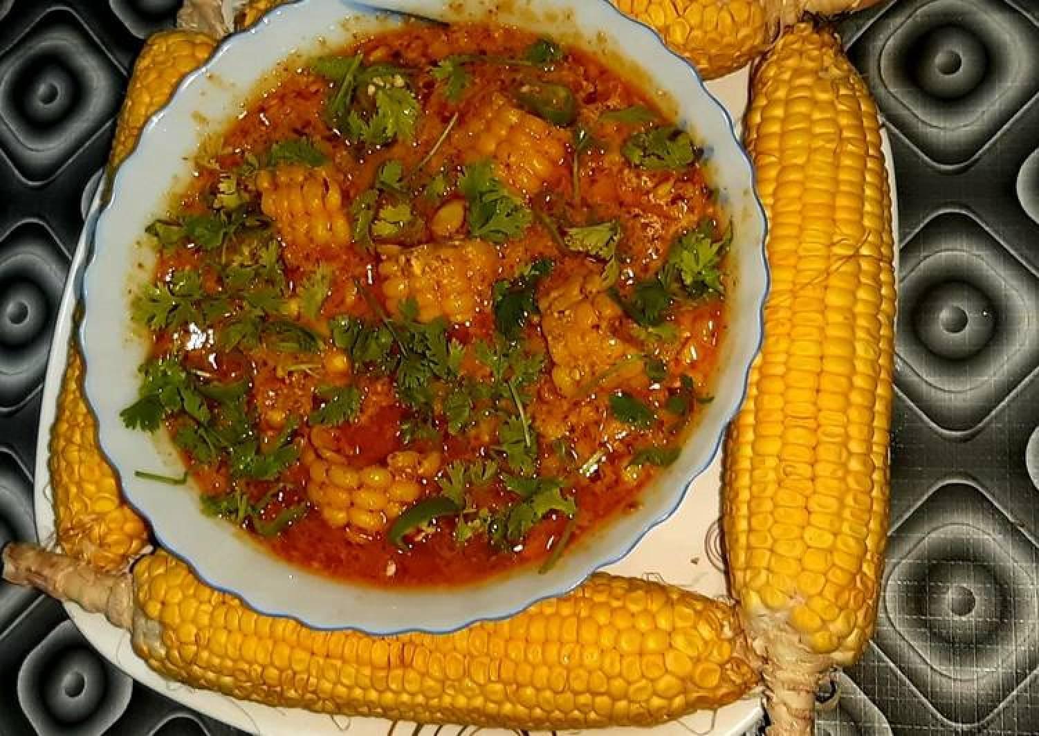 Curd corn curry