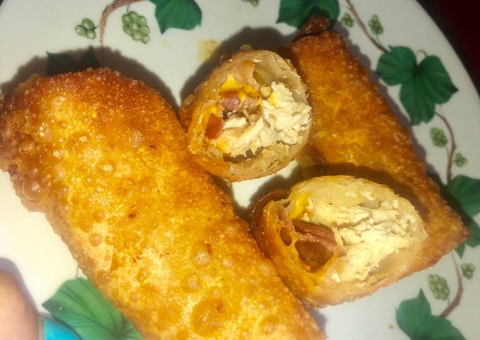 Step-by-Step Guide to Make Award-winning Chicken bacon cheddar ranch egg rolls