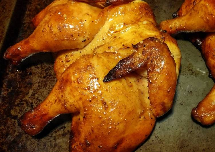 Grilled Honey-Glazed Cornish Hens